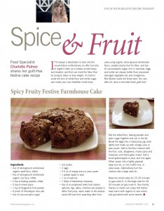 Holistic Therapist Magazine - Spicy Fruity Festive Farmhouse Cake