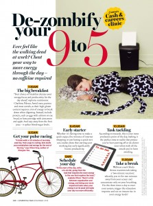 Cosmopolitan Magazine - De zombify your 9-5 - November 2013