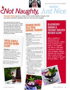 Holistic Therapist Magazine - Not Naughty, Just Nice - Jul-Aug-Sep 2013 - article by Charlotte Palmer, Food Specialist